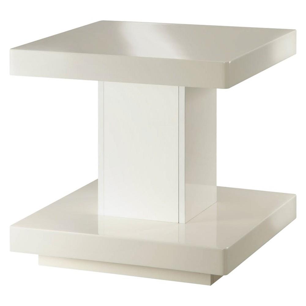 Imena End Table White - Acme