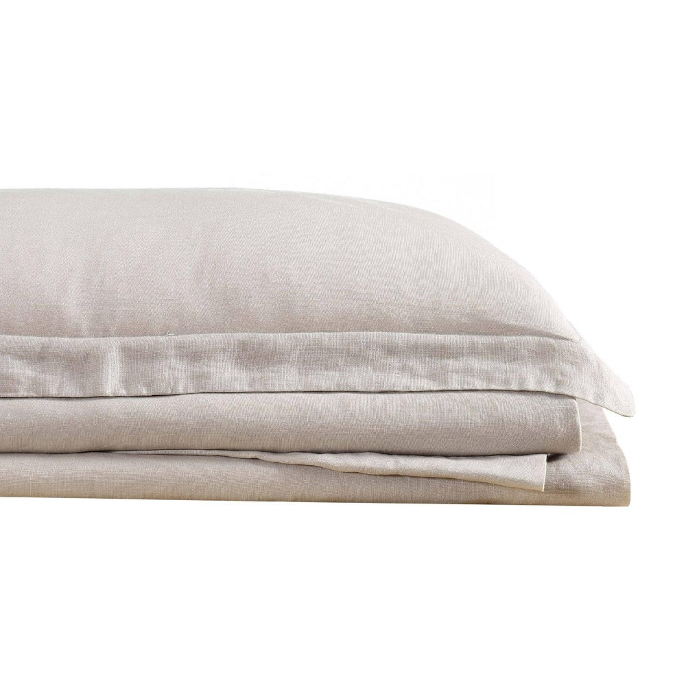 Image of California King 300 Thread Count Linen Solid Sheet Set Natural - Brooklyn Loom