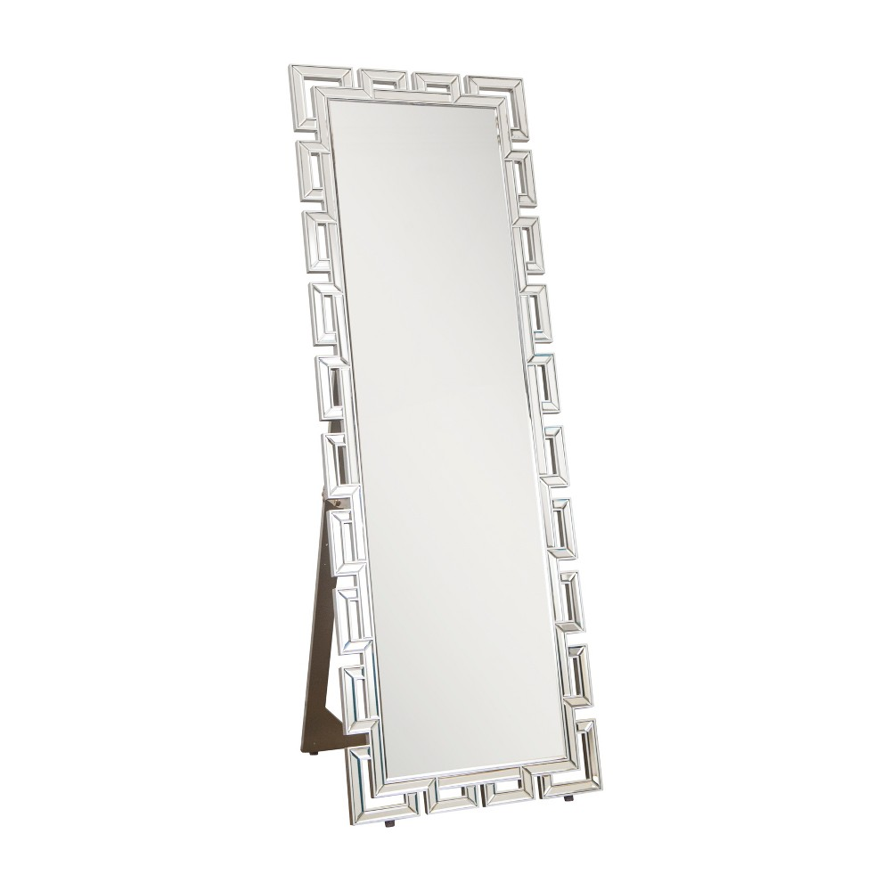 "Image of ""Abbyson Living 63""""x22"""" Maro Silver Standing Floor Mirror Silver"""