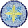 Teal Island Designs Blue Flower Mosaic Outdoor Accent Table - image 3 of 4