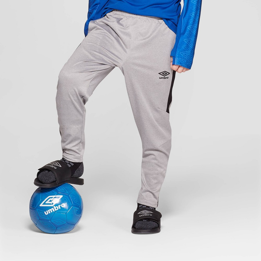 4ccdd6dc1e ... Outfit your soccer player in comfort and style with the Slim Fit Soccer  Training Pants from Umbro. These boys' Umbro pants come in gray and feature  the ...