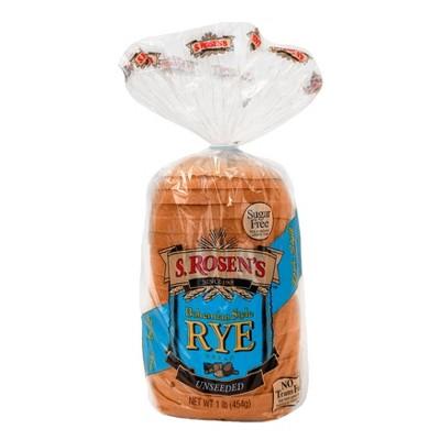 S.Rosen's Unseeded Rye Bread - 16oz