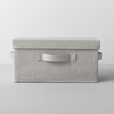 Slim Shoe Bin With Lid Light Gray - Made By Design™
