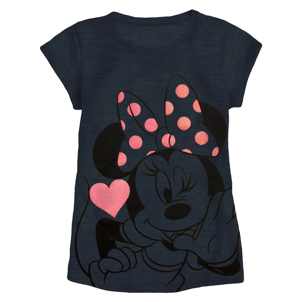 Minnie Mouse Girls' Graphic T-Shirt - Charcoal Heather S
