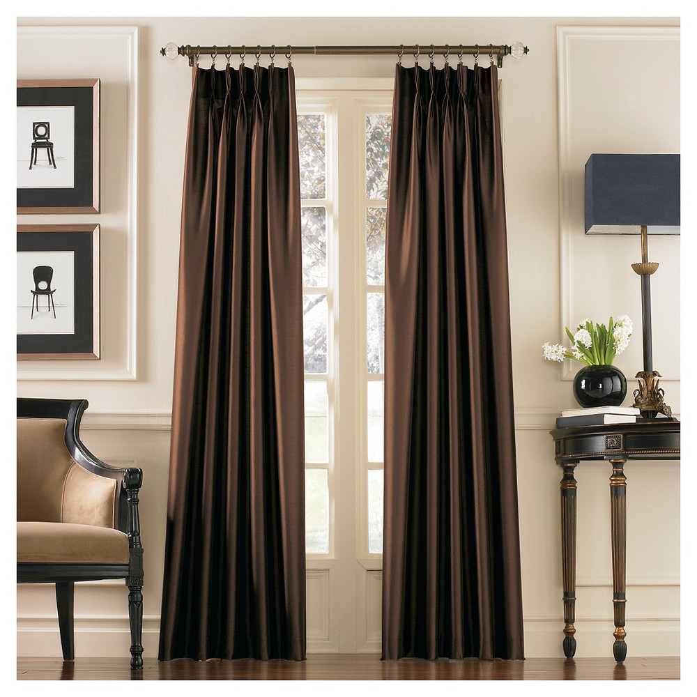 Curtainworks Marquee Lined Curtain Panel - Chestnut (Brown) (120)