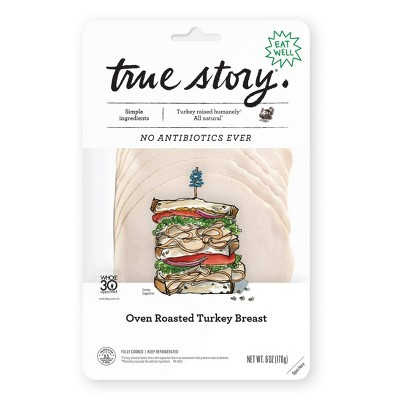 True Story Oven Roasted Turkey - 6oz