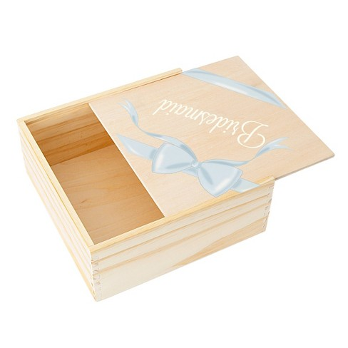 Ribbon Bridesmaid Gift Box Wood Cathy S Concepts