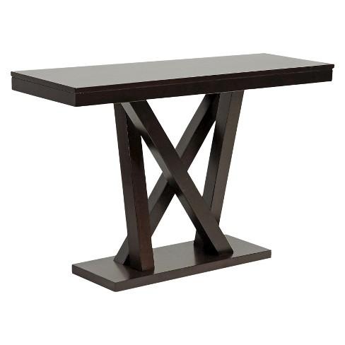 Everdon Modern Sofa Table Dark Brown - Baxton Studio - image 1 of 3