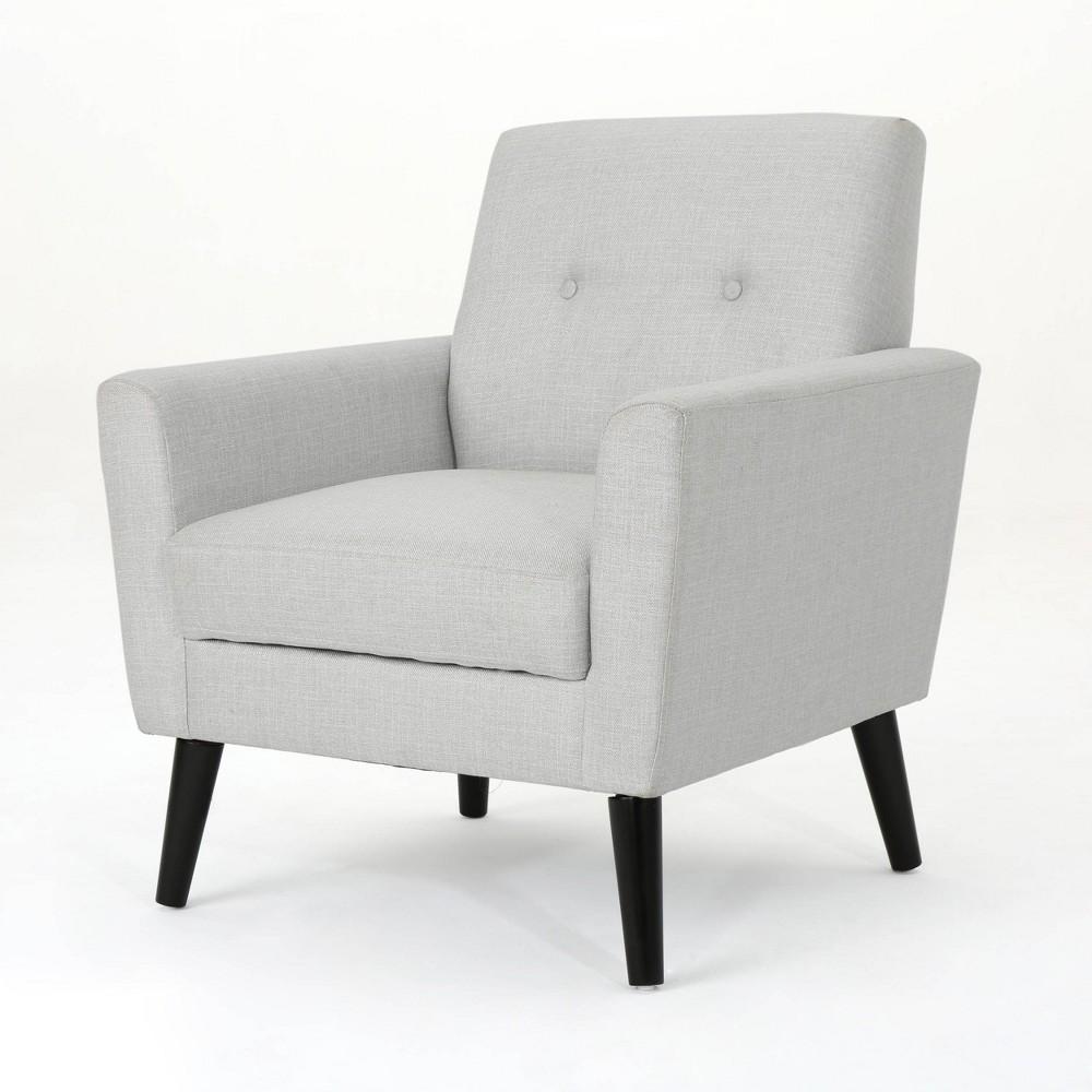 Sienna Mid Century Club Chair Light Gray Christopher Knight Home