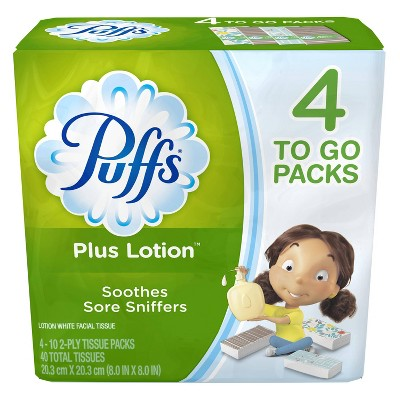 Tissues: Puffs Plus Lotion To Go Packs
