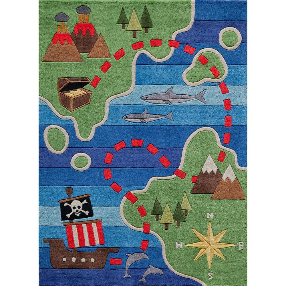 Pirate Treasure Area Rug (8'x10'), Multicolored