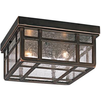 "Kathy Ireland J du J Sierra Craftsman 10 1/2"" Wide Ceiling Light"