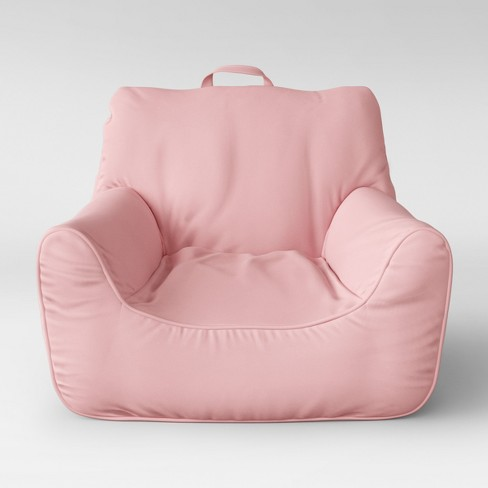 Superb Bean Bag Seat With Arm Rests Pink Pillowfort Creativecarmelina Interior Chair Design Creativecarmelinacom