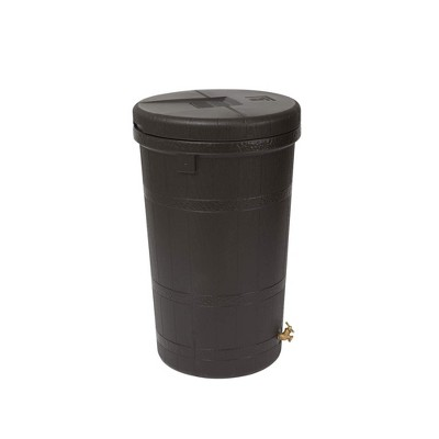 Good Ideas Aspen ECO 50 Gallon Rain Barrel Rain Collector Saver w/ Brass Spigot