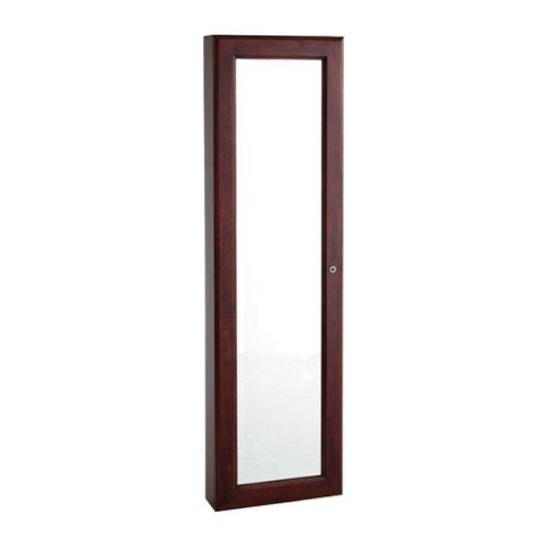 Wall Mount Jewelry Mirror - Cherry, Red