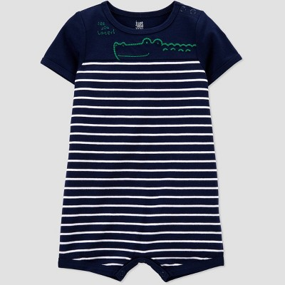Baby Boys' Alligator Striped Jumpsuit - Just One You® made by carter's Navy 6M