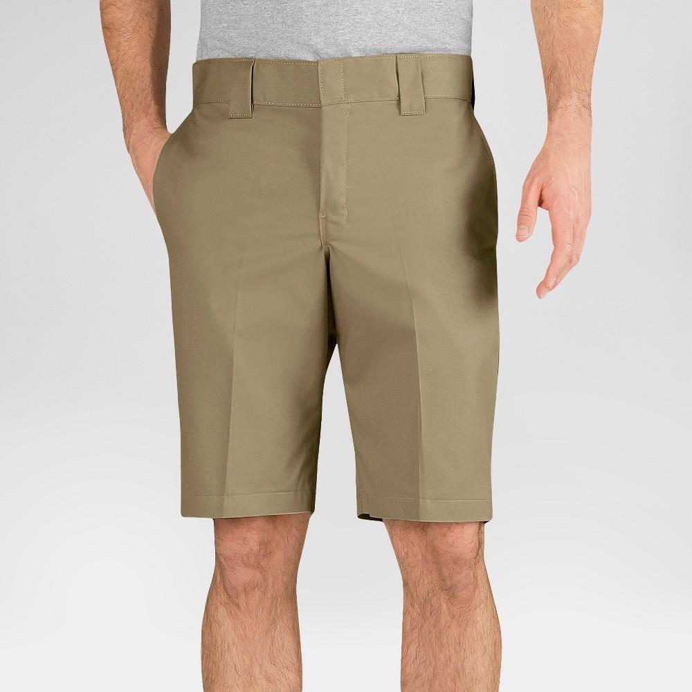 Dickies Men's Slim Fit Flex Twill 11 Shorts- Desert Sand 31