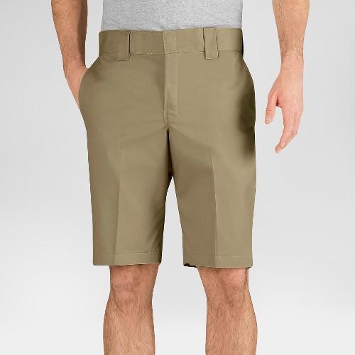 """Dickies Men's Slim Fit Flex Twill 11"""" Shorts- Desert Sand 38, Desert Brown"""