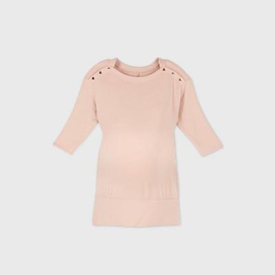 3/4 Sleeve Snap Shoulder Maternity Sweatshirt - Isabel Maternity by Ingrid & Isabel™