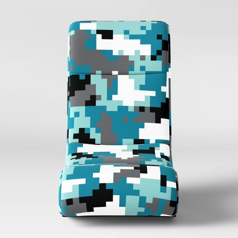 Astounding Kids Gaming Chair Camo Blue Pillowfort Caraccident5 Cool Chair Designs And Ideas Caraccident5Info