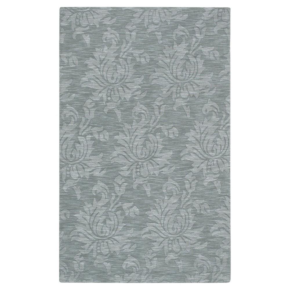 Slate (Grey) Solid Woven Area Rug - (5'X8') - Surya