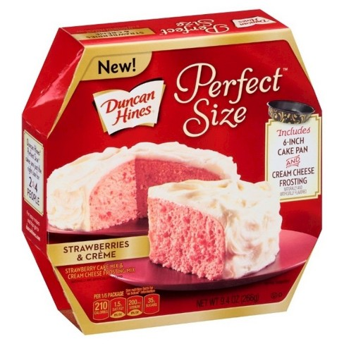 Duncan Hines Perfect Size Strawberries and Crème Cake (pan included) 9.4oz - image 1 of 1