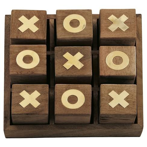 Updated Traditional Mahogany Wooden Tic Tac Toe Box 3 Olivia