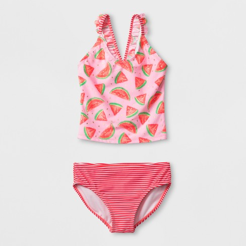 4fcd7ed49 Girls' Watermelon Time Tankini Set - Cat & Jack™ Pink : Target
