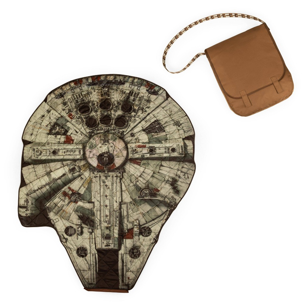 Picnic Time Star Wars Millennium Falcon Beach Blanket In A Bag