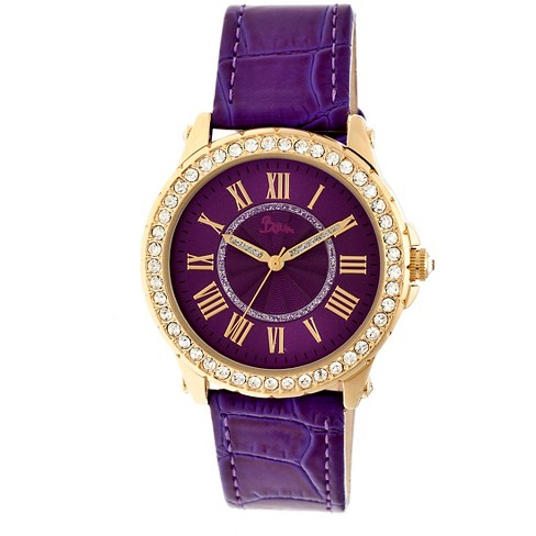 Women's Boum Belle Watch with Crystal Surrounded Bezel- Purple - image 1 of 3