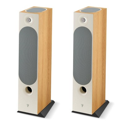 Focal Chora 826-D Floorstanding Speakers with Built-In Dolby Atmos Modules - Pair (Light Wood)