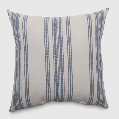 Square Ticking Stripe Outdoor Pillow Navy - Threshold™