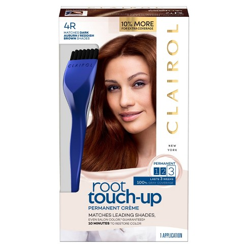 Clairol Root Touch-Up Permanent Hair Color - 4R Dark Auburn Reddish Brown -  1 Kit