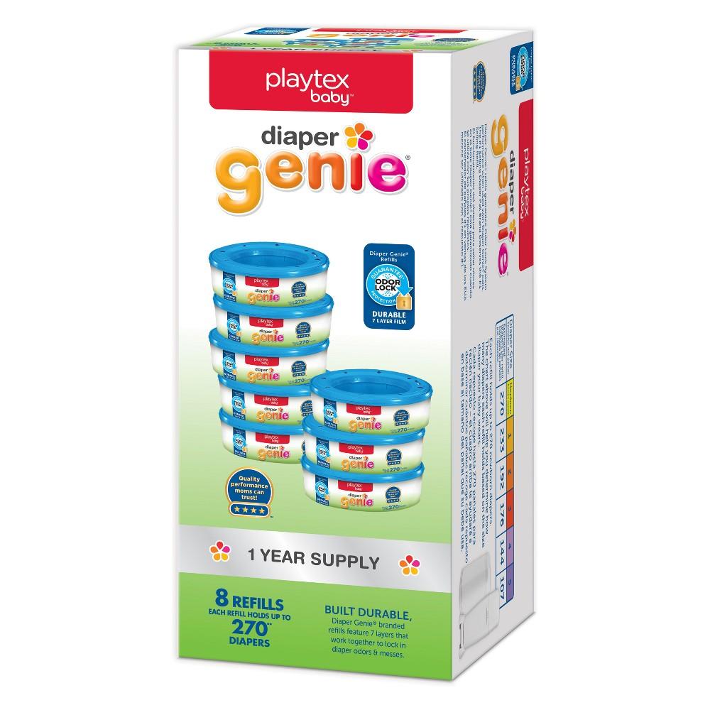 Playtex Baby Diaper Genie Diaper Disposal Pail System Refills 8pk, White