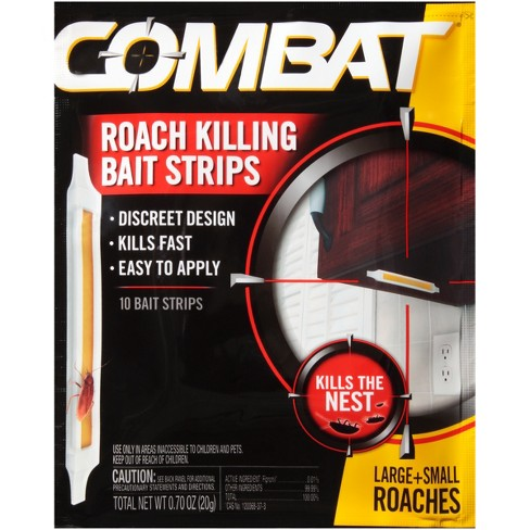 Combat Roach Killing Bait Strips for Large and Small Roaches - 10ct - image 1 of 4