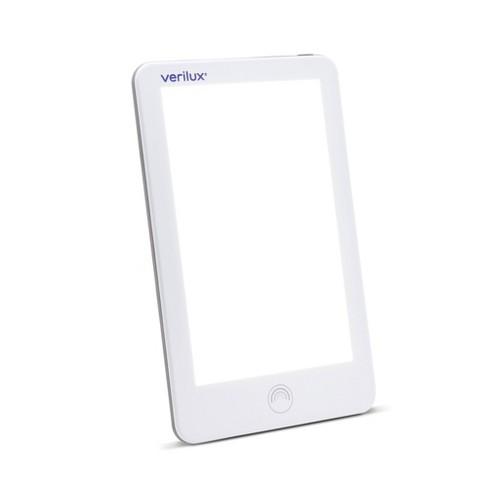 "10.4"" x 6.4"" x 1.1"" LED UV Free Happy Light Lumi Therapy Lamp White - Verilux - image 1 of 4"