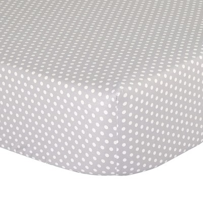 The Peanutshell Fitted Crib Sheet - Gray Dots