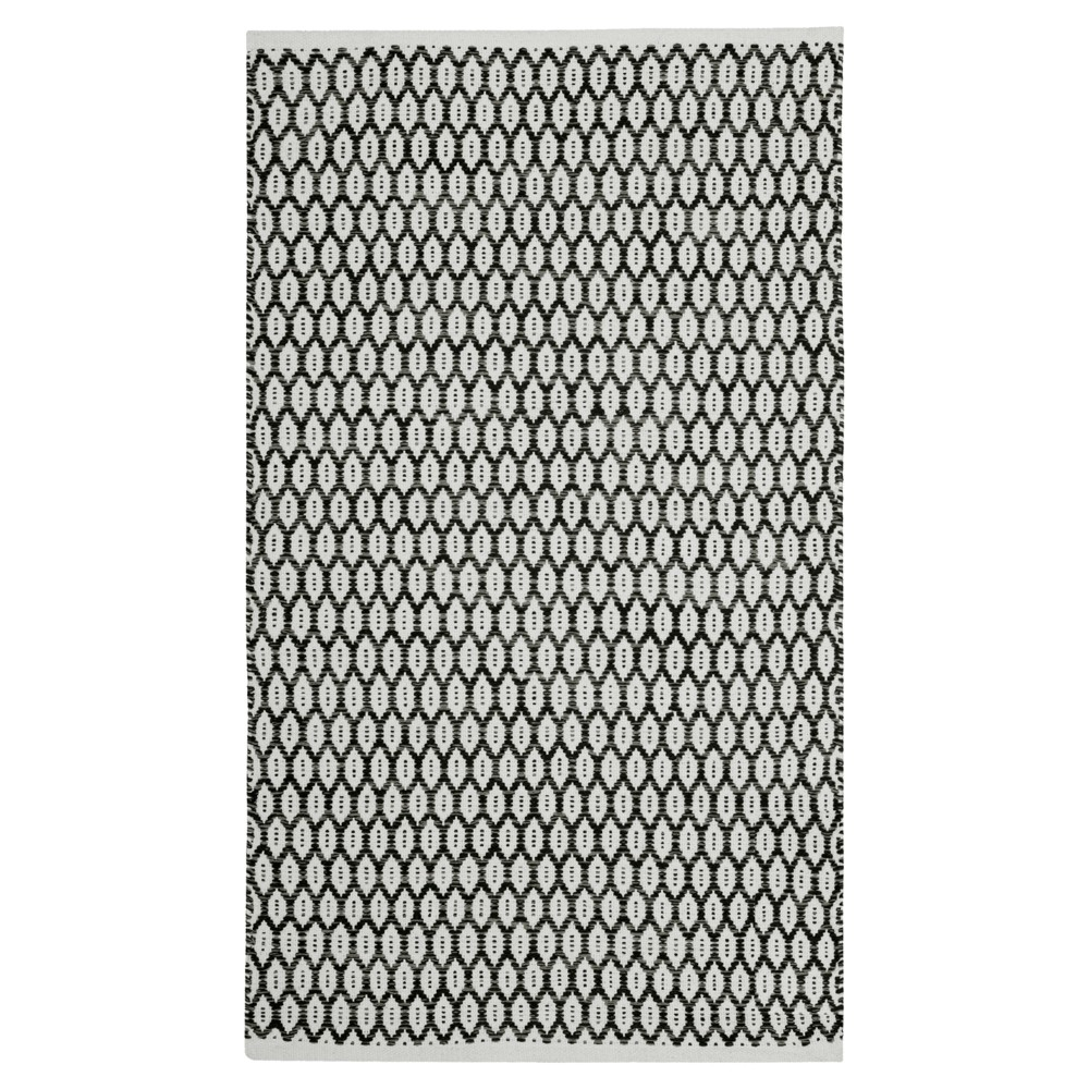 Black Ivory Geometric Woven Area Rug 8 X10 Safavieh