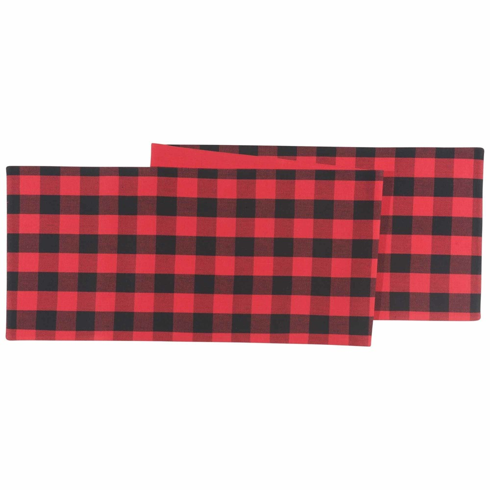 Image of Table Runner Red Black Now Designs