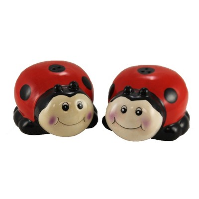 "Tabletop 2.0"" Ladybug Salt & Pepper Seasoning Beetle Burton & Burton  -  Salt And Pepper Shaker Sets"
