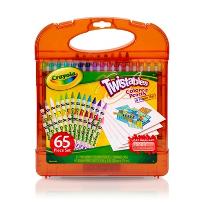 Crayola Twistables 65pc Colored Pencils & Paper Set