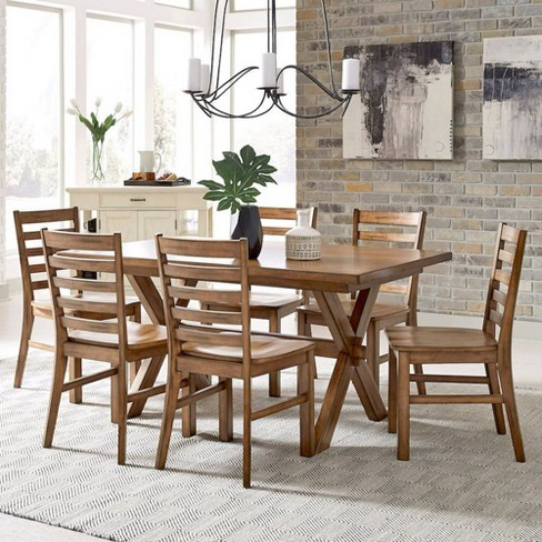Sedona Rectangular Trestle Dining Table, A Dining Room Table With 6 Chairs