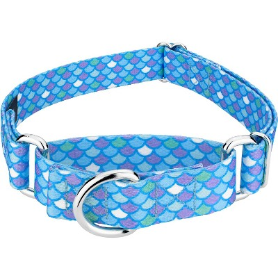 Country Brook Petz® Mermaid Scales Martingale Dog Collar