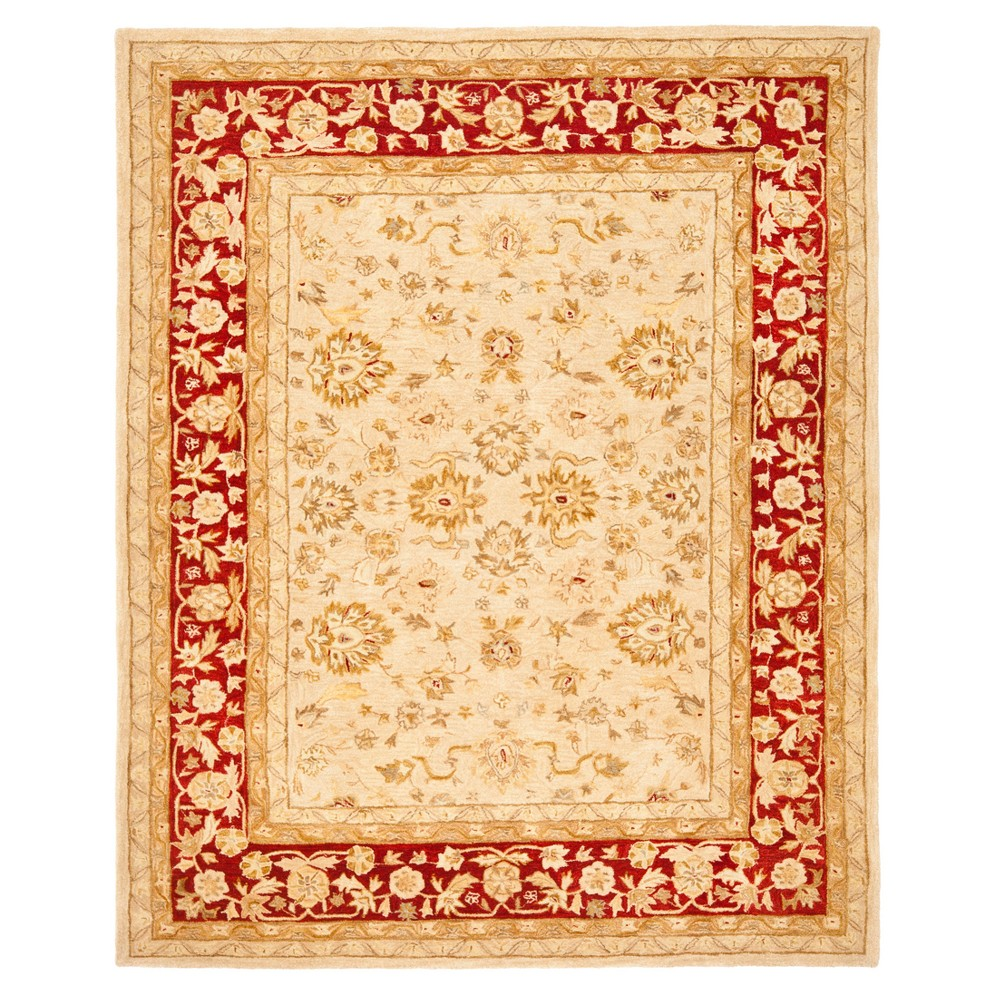 Ivoryred Floral Tufted Area Rug 9x12 Safavieh