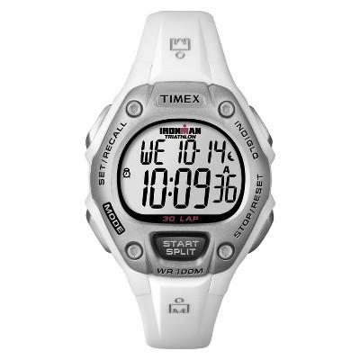 Women's Timex Ironman Classic 30 Lap Digital Watch - White T5K515JT