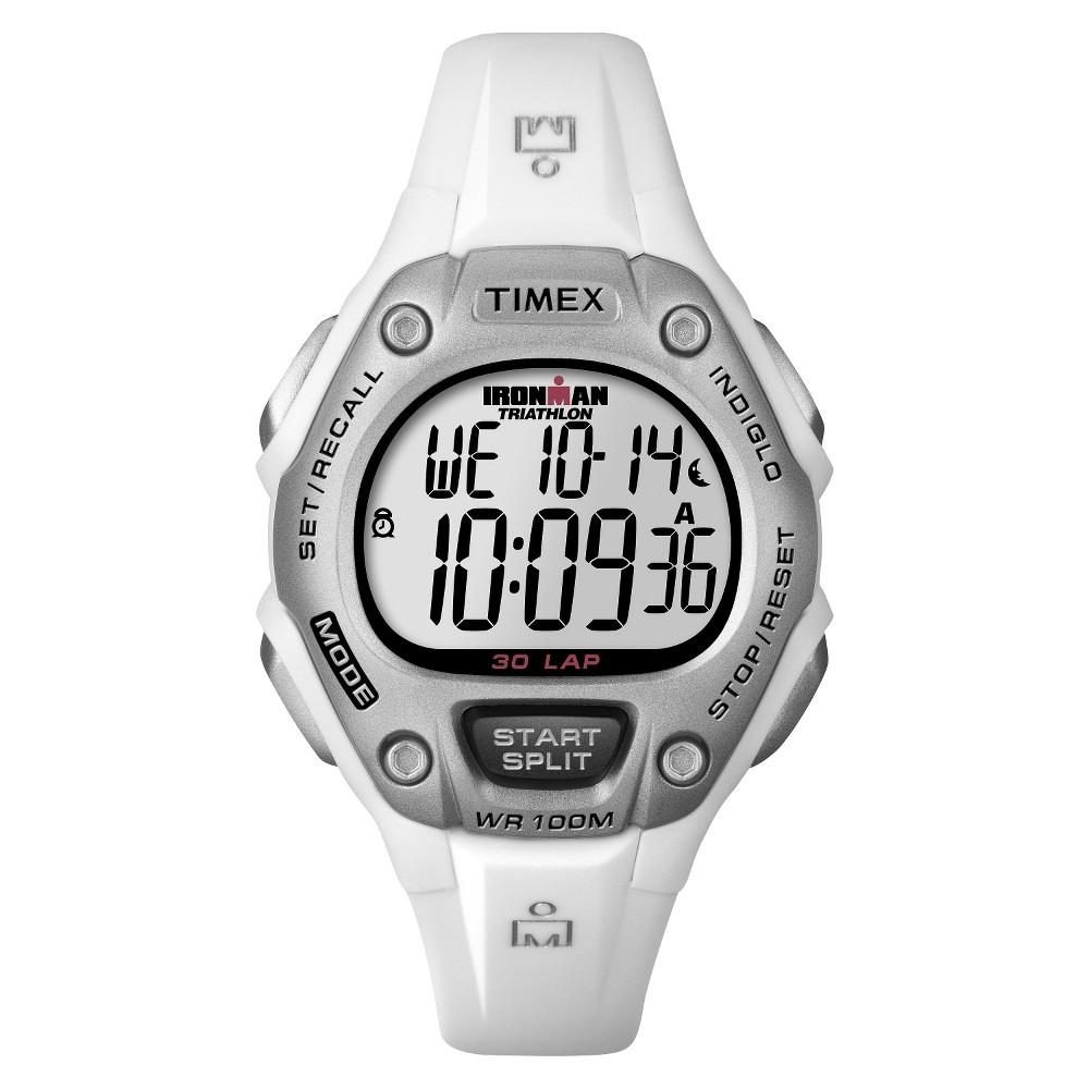 Women 39 S Timex Ironman Classic 30 Lap Digital Watch White T5k515jt