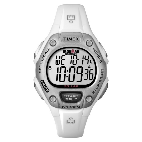 Women's Timex Ironman® Classic 30 Lap Digital Watch - White T5K515JT - image 1 of 1