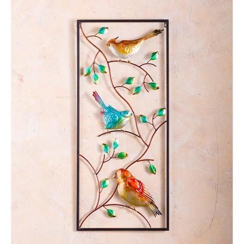 Indoor Outdoor Metal Bird Vertical Wall Art Plow Hearth