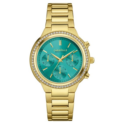 2d94e5dd9f740 Women s Caravelle New York Crystal-Accent Chronograph Stainless ...