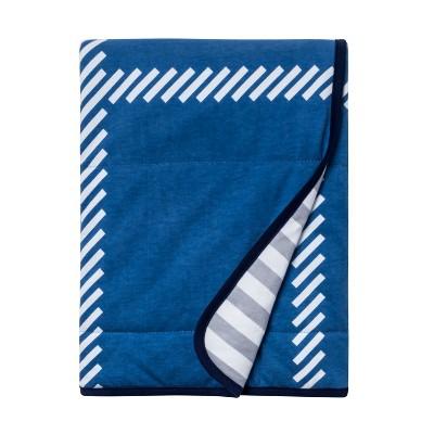Jersey Knit Blanket Homespun Stars - Cloud Island™ Blue